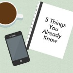things you already know